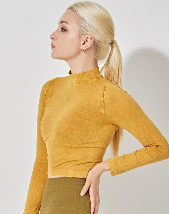 Mock Neck Crop Top (VK2TS437/TM)
