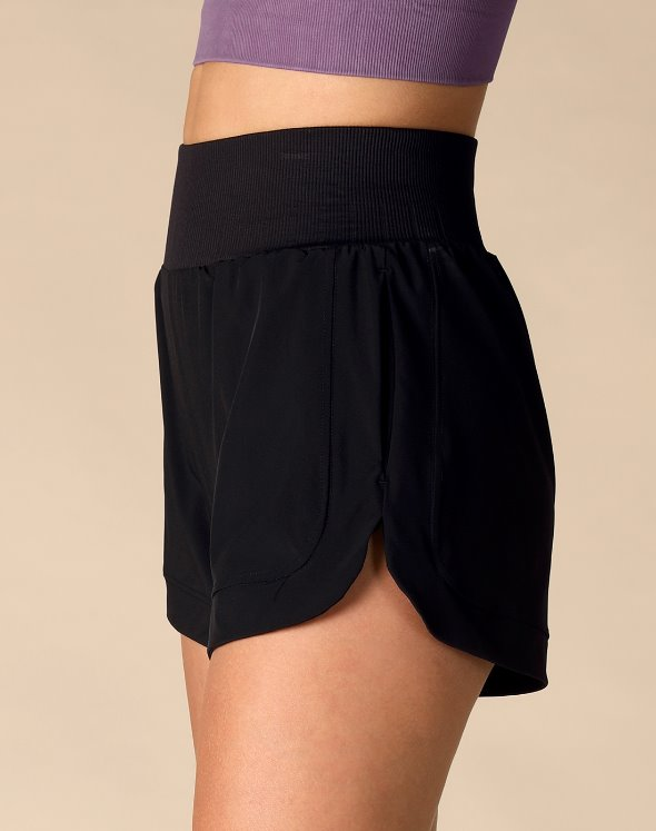High Waist Short Pants(VJ2BO706/BK)
